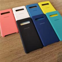 For Samsung S10 Plus Phone Case Original Liquid Silicone Soft Samsung Galaxy S10e S9 S8 Plus S7 Edge