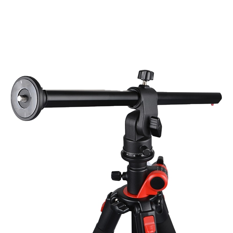 360 درجة تدوير متعدد زاوية سبائك الألومنيوم كاميرا ترايبود مركز العمود تمديد ذراع بوم مع نظام قفل
