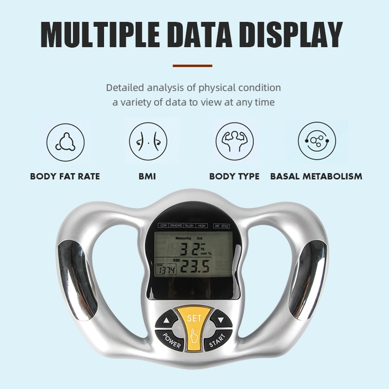 Ручной анализатор жира в теле Bodylarge, анализатор индекса массы тела с ЖК-дисплеем, измеритель индекса массы тела, анализатор здорового образа