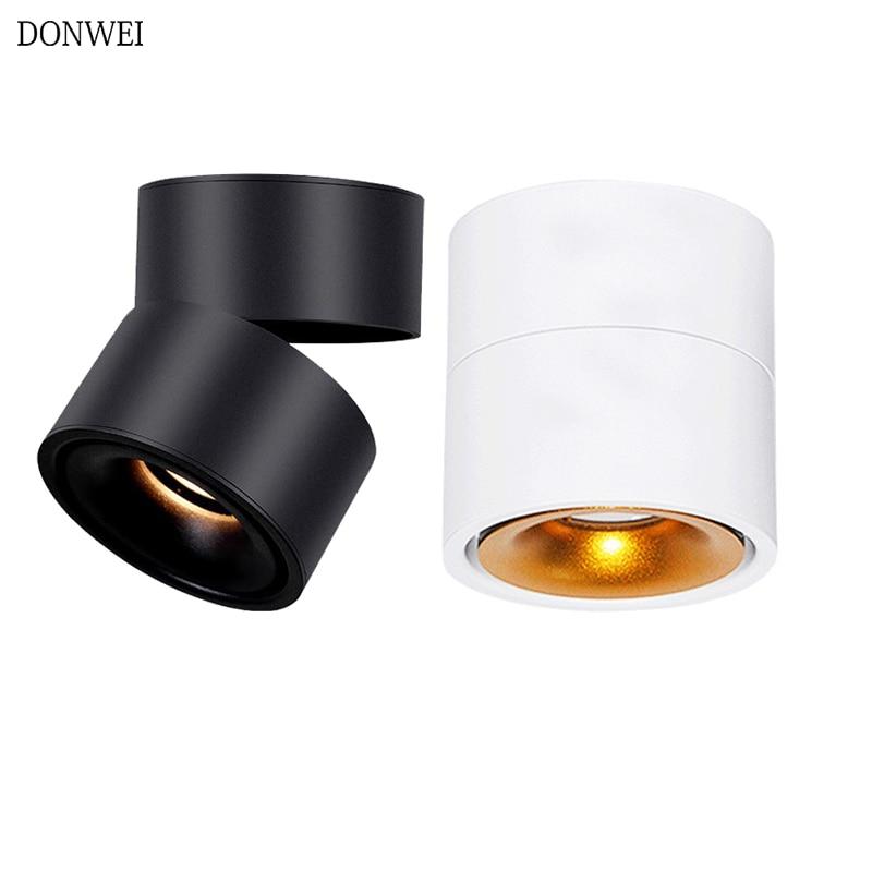 Rotatable 5W 7W 10W 12W LED Ceiling Light Foldable LED COB led Spot lights Indoor Ceiling Lamp for Living Room Bar Restaurant