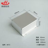 1pc Silver Aluminium Enclosure Case Mini Electronic Project Box 83x51x100mm 8072