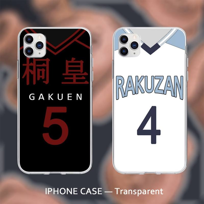Gekijouban kuroko nenhum basuke transparente caso macio capa para o iphone se 2020 6s 7 8 plus x xs max xr 11 12 pro max coque