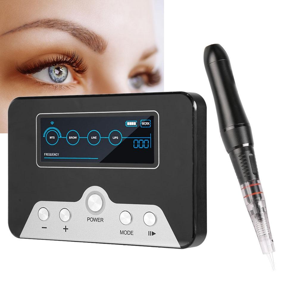 Electric High Frequency Vibration Tattoo Machine Pen Semi-Permanent Make Up Eyebrow Eyeliner Lip Machine US Plug 100-240V Supply