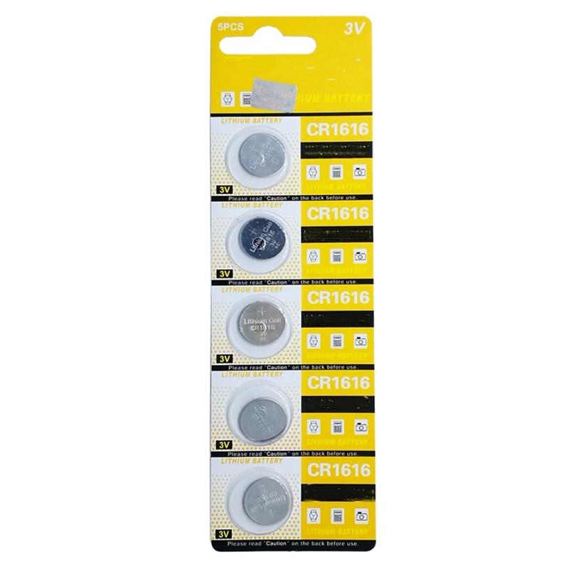 5 шт./лот CR1616 часовая батарейка 1616 3v 1616 Щелочная батарейка