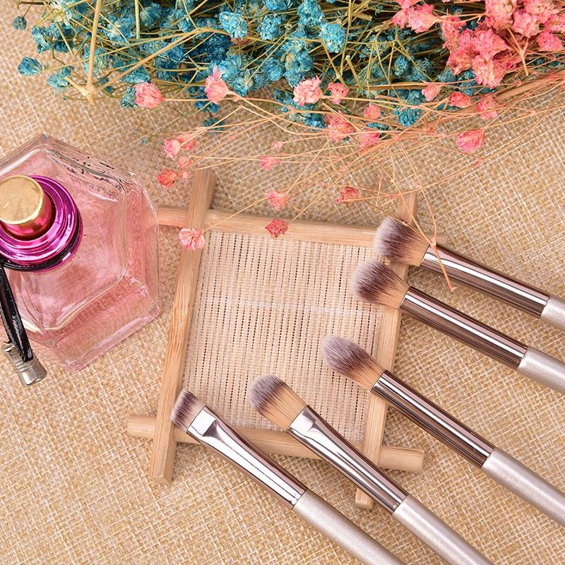1PCS Cosmetic Brush Beauty Tools Makeup Brushes Wooden Foundation Cosmetic Eyebrow Eyeshadow Brush Makeup Brush Tool 5pcs eye makeup set eyeshadow eyebrow brush flat head brush angled brush foundation brush cosmetic brush kit