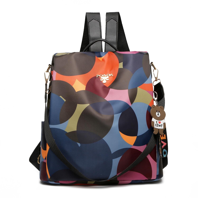 حقيبة الإناث الموضة الحضرية بسيطة طلاب المدارس الثانوية مع حقيبة ظهر بسعة كبيرة حقيبة السفر الترفيه