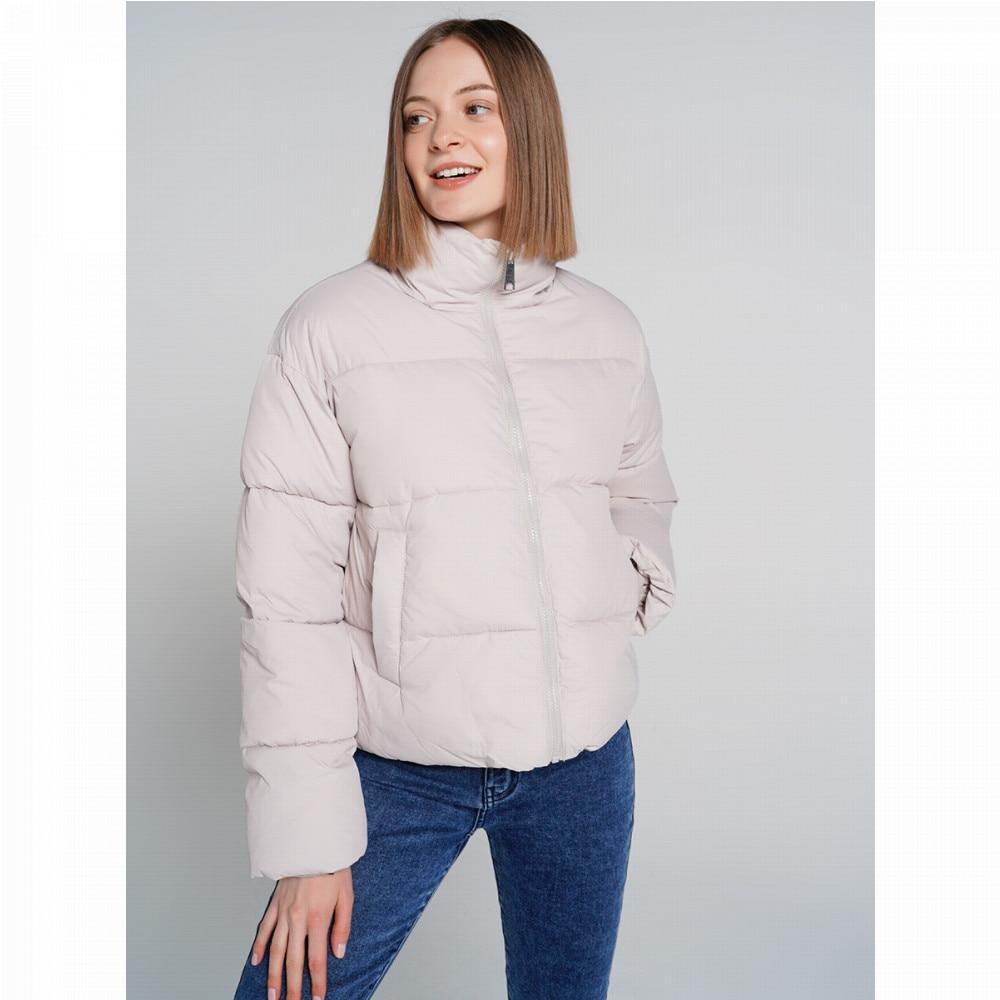 Куртка на синтепоне ТВОЕ женская светло серая FASHION