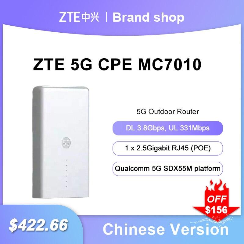 Unlocked ZTE Outdoor Router MC7010 5G Sub6+4G LTE 5G NR NSA+SA Qualcomm 5G SDX55M platform n1/n3/n7/n8/n20/n28/n38/n41/n77/n78