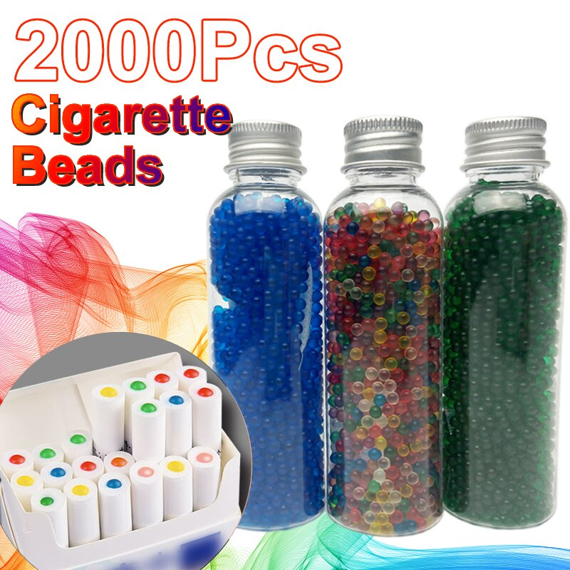 2000pcs power Mint Cigarette Pops Beads black ice Menthol Fruit Flavour Capsule ball filter Holder S