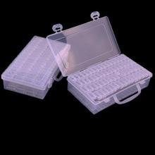 64 Slots Clear Plastic Empty Storage Box Nail Art Rhinestone Tools Jewelry Beads Display Storage Box Case Organizer Holder