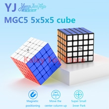 Yongjun MGC 5 5x5x5 cubo mágico magnético YJ MGC5 5x5 imanes cubos de velocidad cubo rompecabezas sin adhesivo profesional