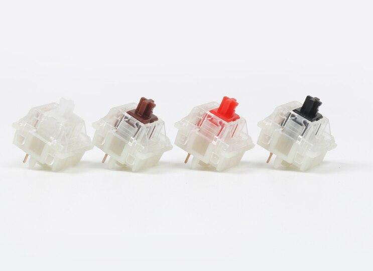 Gateron-مفتاح صامت للوحة المفاتيح الميكانيكية ، 5 دبابيس ، بني ، أحمر ، أسود