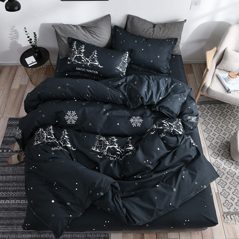 Bedding Set Christmas Girl Boy Kid Bed Cover Set Duvet Cover Adult Child Bed Sheets Pillowcases Comforter