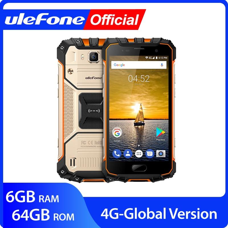 "Ulefone Rüstung 2 IP68 Wasserdichte Handy Android 7,0 5.0 ""FHD MTK6757 Octa Core 6GB + 64GB 16MP Globale Version 4G Smartphone"