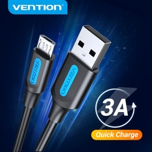Vention Micro USB Cable 3A Fast Charging USB Data Cord for Samsung S7 S6 Note Xiaomi Huawei HTC Mobi