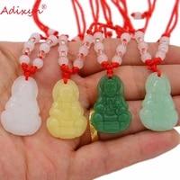 adixyn natural semi preciou stone buddha pendant rope chain buddism godness guanyin n071052