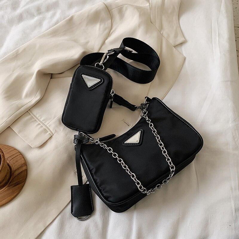 Causal Women Crossbody Bags Luxury Handbags for Women Bags Designer With Mini Pocket Luxury Brand Female Shoulder Messenger Bag