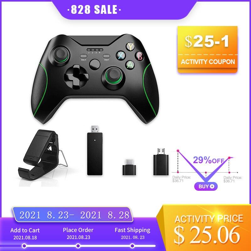 2,4G juego inalámbrico controlador Joystick para Xbox un controlador para PS3/Android Teléfono Inteligente Gamepad para ganar PC
