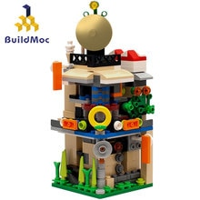 Buildmoc Mini City Blocks View Scene Coffee Shop Retail Store Architectures Models Building Quiz Christmas Toy for Children