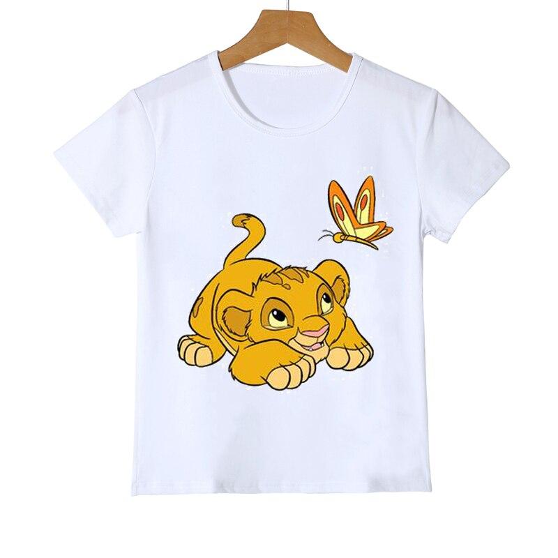 boys animal print t shirt Children Clothing Cute Cartoon Lion King Print T-shirt Girls/Boys Funny Animal Baby Clothes Kids Summer Tops T shirt Boys