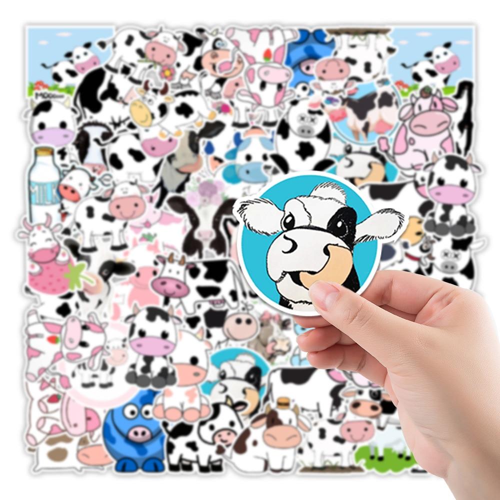 10/30/50PCS Children Cartoon Cute Cute Cow Stickers Refrigerator Computer Mobile Phone Water Cup Graffiti Stickers