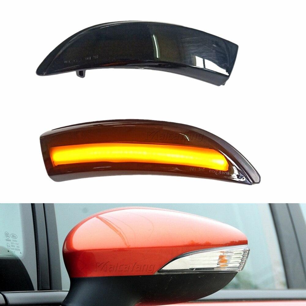 Para ford fiesta mk6 foco b-max 2008 -2017 fluindo lado asa espelho led dinâmico indicador sequencial pisca luz de sinal de volta