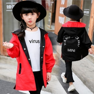 Children's Clothes Double-sided Wear Printing Jacket Girl Waterproof Windproof Spring Autumn Children Outerwear Sport Jacket