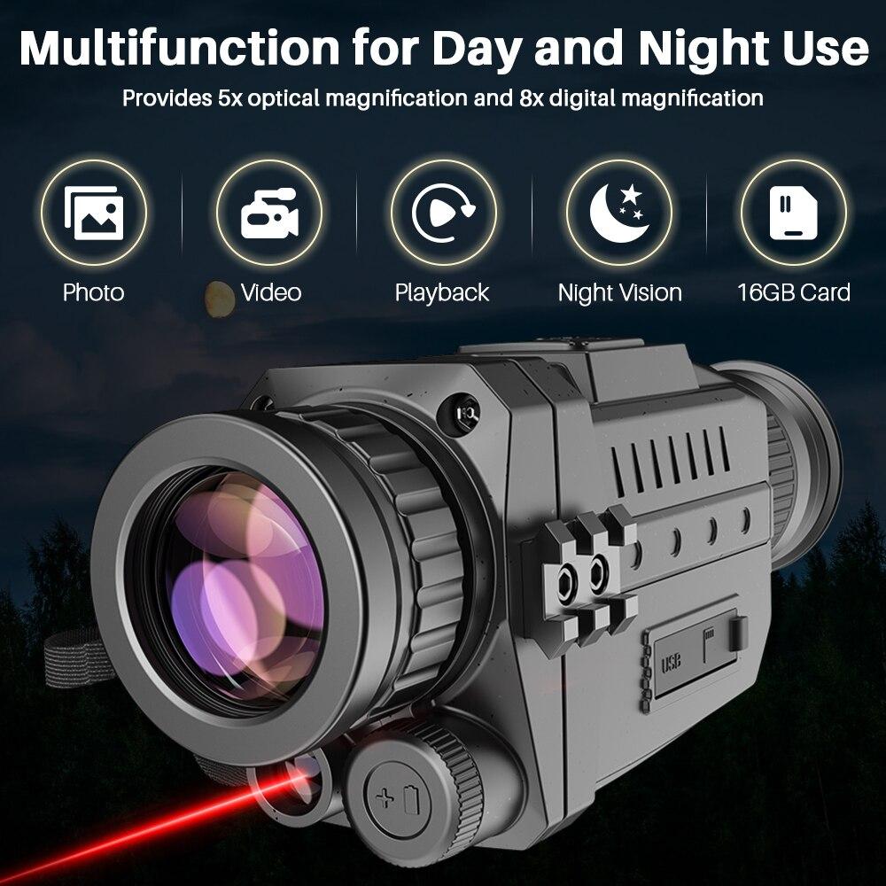 Alcance para Caça Dispositivos de Visão Apexel Visão Noturna Infravermelha Monocular Digital ir Telescópio Zoom Óptica 200m