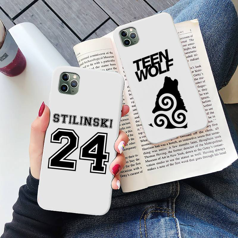 Teen Wolf Stilinski 24 TV series funda coque cover Phone Case Candy Color for iPhone 6 7 8 11 12 s m