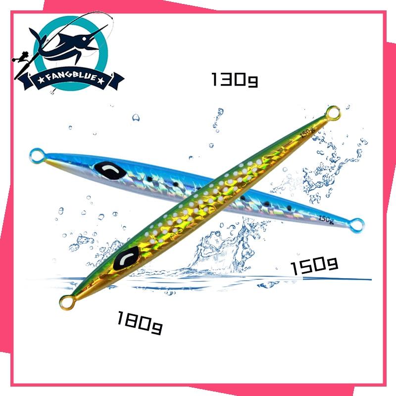 2 pçs isca de pesca 130g 150g 180g pia rápida metal gabarito isca de pesca artificial luminosa duro para acessórios de pesca de graves