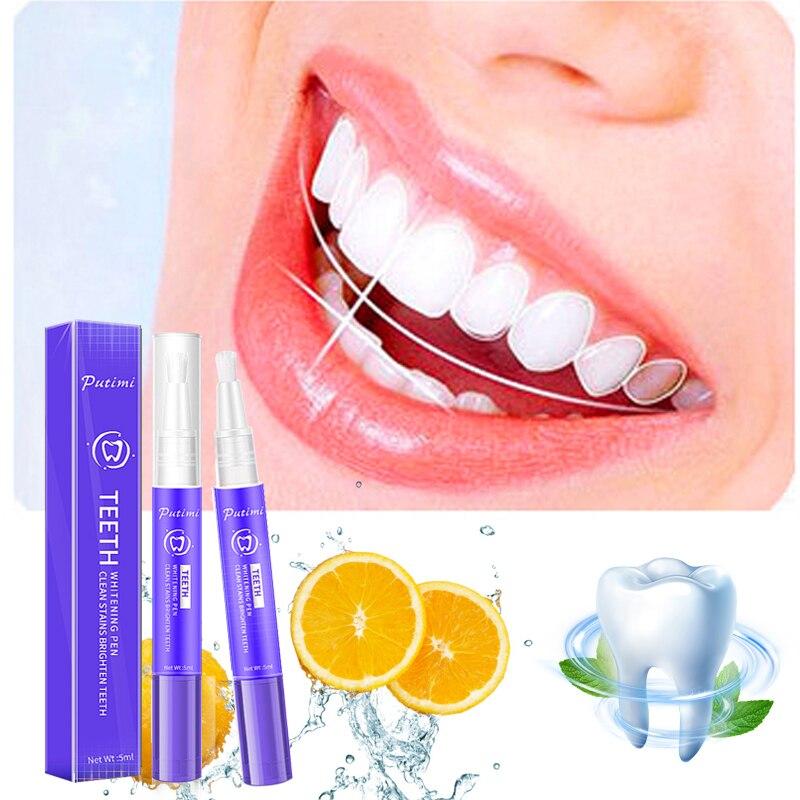 Ручка для отбеливания зубов PUTIMI, желтая ручка для удаления зубного налета, отбеливания зубов, гигиена полости рта, отбеливание зубов, инстру...