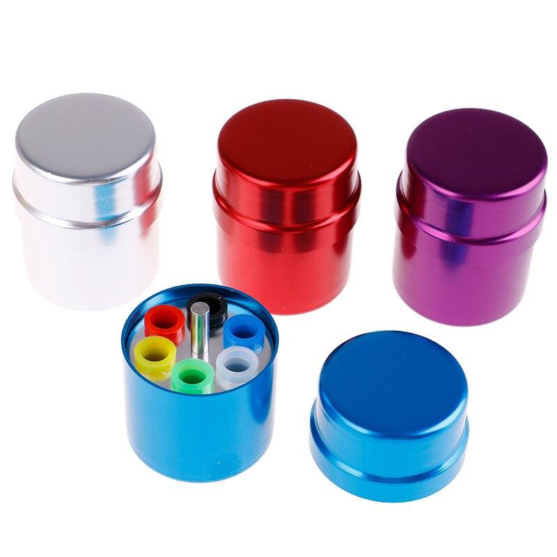 Caja de 6 agujeros para colocación de taladros, caja de esterilización de fresas dentales, caja de perforación para dentista, caja esterilizadora, caja de desinfección