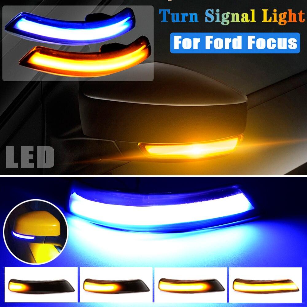 لفورد فوكس 3 2 مونديو Mk4 الاتحاد الأوروبي Mk2 Mk3 3.5 ديناميكية LED الوامض الجانب مرآة ماركر بدوره مصباح إشارة مصباح اكسسوارات السيارات