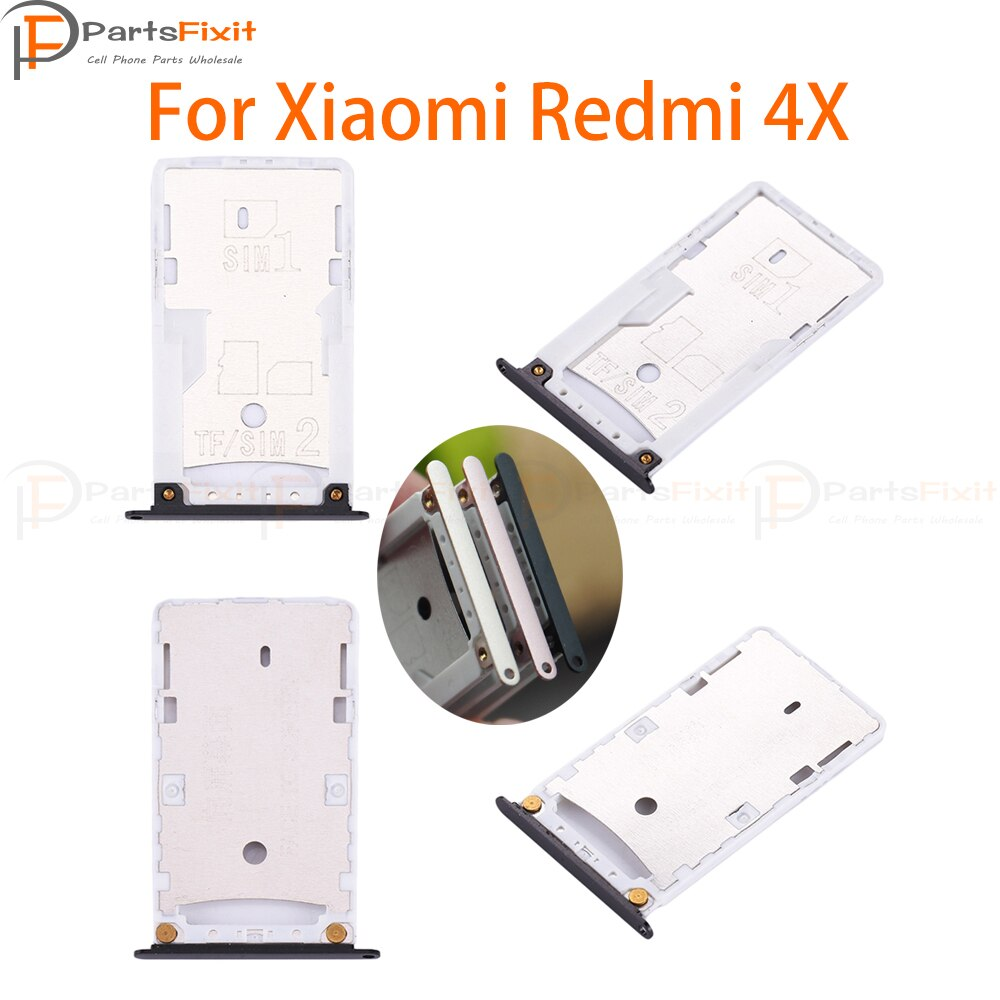 Bandeja de tarjeta SIM para Redmi 4X bandeja con ranura para tarjeta SIM TF piezas de repuesto de la bandeja