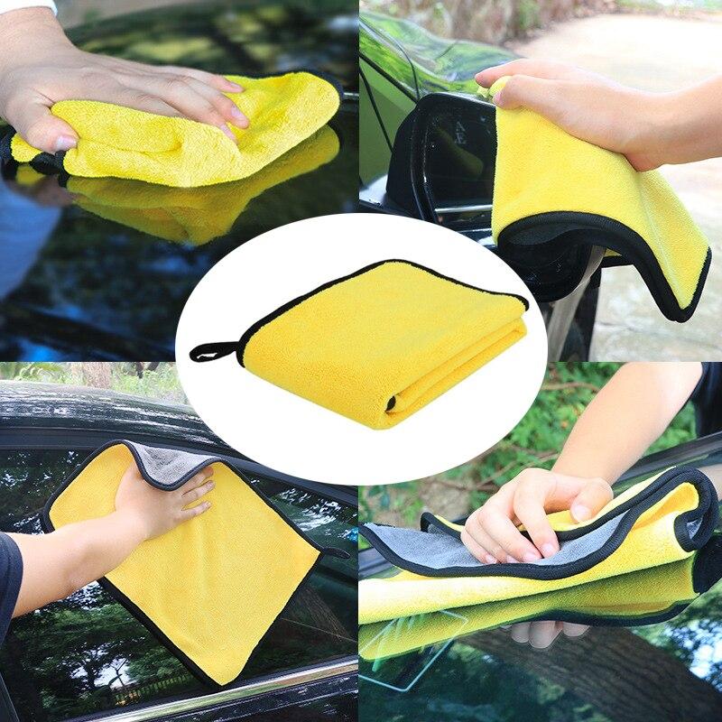Lavagem de carro microfibra toalha de limpeza pano de secagem doméstico merchandises extra macio lavagem de carro detalhando toalha nunca scrat