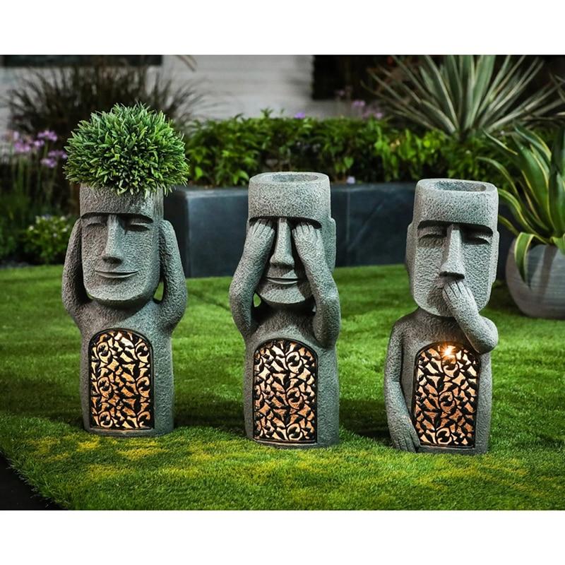 الإبداعية لا تبدو لا تستمع إلى أن تصميم فناء المنزل الراتنج بوعاء حديقة الطيور المغذية أواني الزهور ساحة المنحوتات