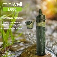 Набор для путешествий с фильтром для воды miniwell, для занятий спортом на открытом воздухе