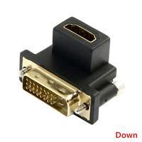 90 градусов угол DVI папа к HDMI-совместимый Женский адаптер, используемый для компьютера, HDTV. ТВ промышленная машина и видеокарта