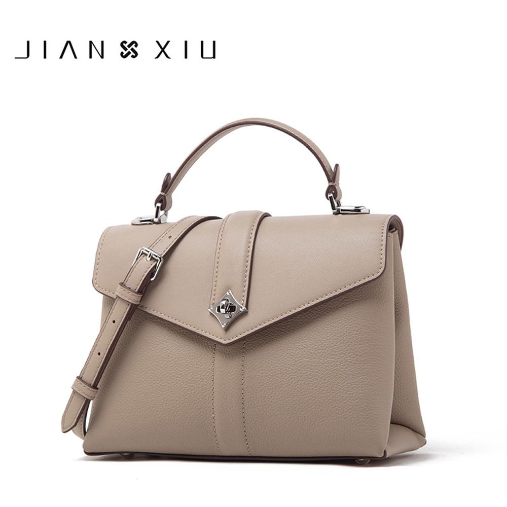 JIANXIU-حقيبة يد نسائية من الجلد الطبيعي ، حقيبة يد فاخرة ، حقيبة كتف مصممة ، حقيبة كتف من جلد البقر ، 3 ألوان
