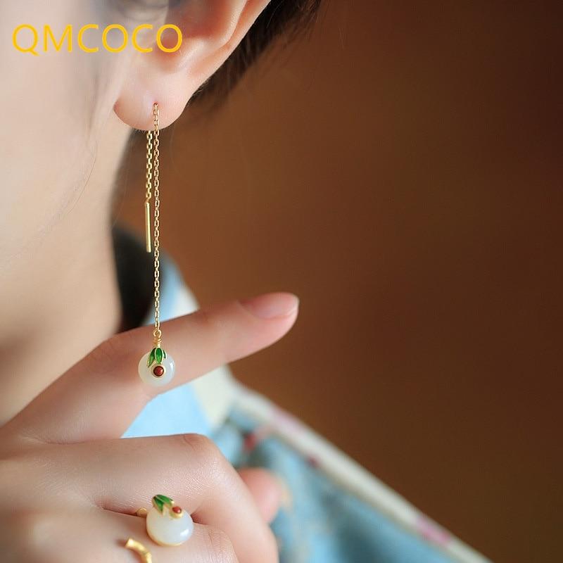 qmcoco-винтажные-старые-классические-нефритовые-серьги-серебро-925-пробы-элегантные-женские-драгоценные-украшения