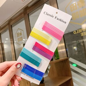 50PCS/Set Girls Decorative Hair Accessories Fashion Hairpins Candy Color Hair Clips Wavy Bobby Pins For Women Styling Tools 2021