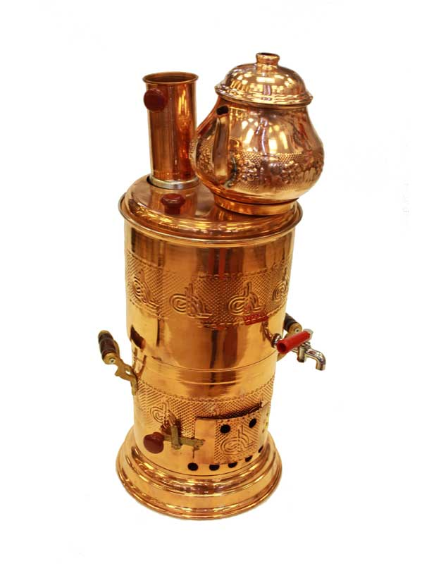 2 piezas hechas a mano de madera, un Total de 5 litros de capacidad, grifo de cobre, urna tradicional Imperio Otomano Turquía Estambul