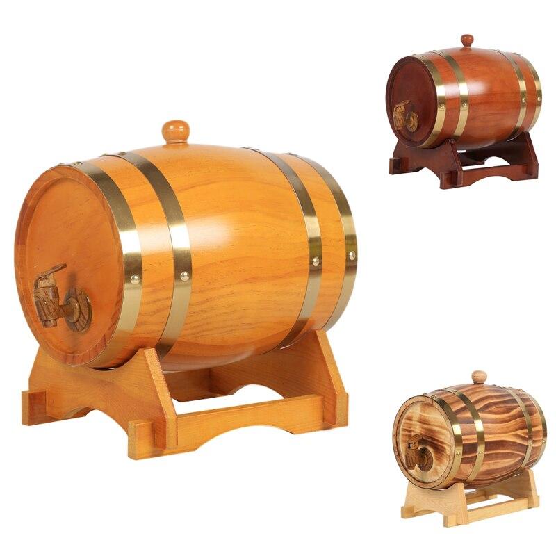 برميل البلوط ، 1.5 لتر/3 لتر برميل تخزين البلوط المدمج في بطانة احباط لتخزين ويسكي الخاصة بك ، البيرة ، النبيذ ، البوربون ، براندي