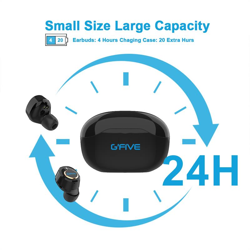 GFIVE Wireless Bluetooth 5.0 Earphone Touch Control In-ear Stereo Headphone with Charging Box Waterproof  Headset Earbuds enlarge