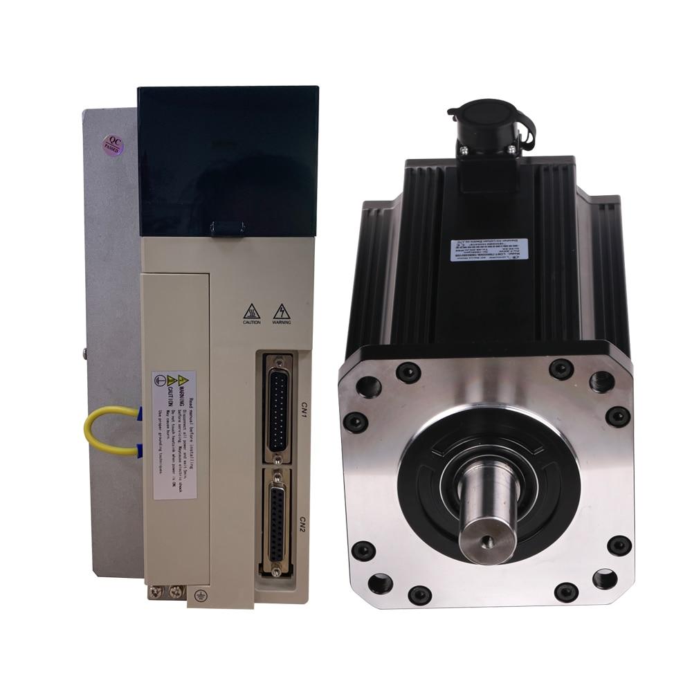 محرك سيرفو يعمل بالتيار المتردد 7.5KW 3 المرحلة AC380V 48Nm 1500rpm Flange180 180st-M48015 7.5kw مع سائق عدة ل CNC الطحن