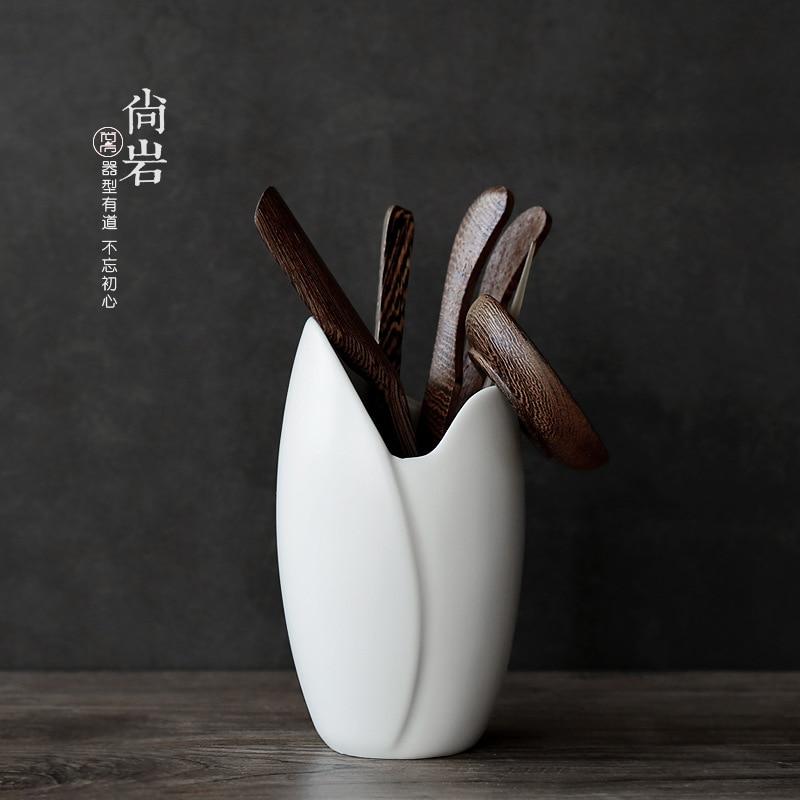 shozo sato tea ceremony Tea Ceremony Six Gentlemen Solid Wood Tea Clip Tea Spoon Tea Ceremony Ceramic White Porcelain Tea Ceremony Accessories