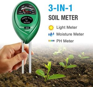 3-in-1 Soil Tester Kits with Moisture Atree Soil pH Meter Light and PH Test for Garden Farm Lawn Indoor & Outdoor