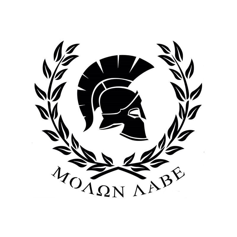 Pegatina de vinilo para coche MOLON LABE Warrior Sparta Personaily, accesorios exteriores para motocicletas y automóviles