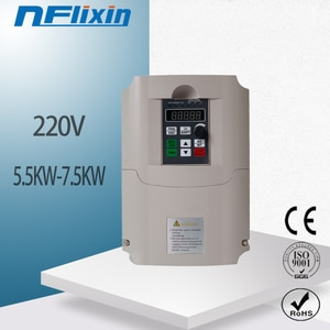 VFD new inverter CNC Spindle motor speed control 220V 4KW/5.5w 220v 1P input 3P OUT frequency inverter for motor