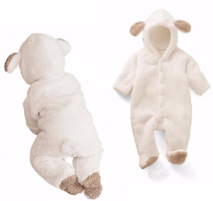 Новорожденный ребенок +комбинезон зима костюм ребенок мальчики одежда коралл флис тепло ребенок девочки одежда животное комбинезон ребенок комбинезон комбинезон